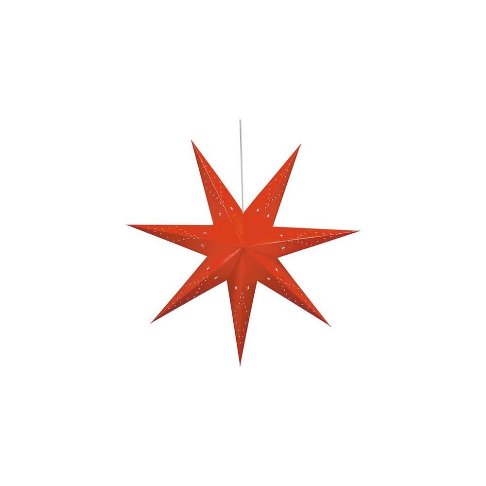 Červená vánoční závěsná světelná dekorace Markslöjd Saturnus,výška45cm