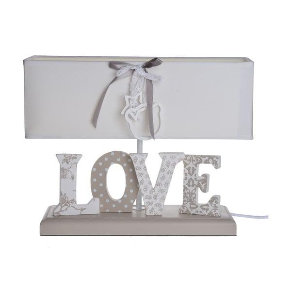 Stolní lampa s nápisem Love