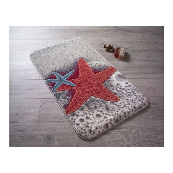 Czerwony dywanik łazienkowy we wzory Confetti Bathmats Starfish, 80x140 cm