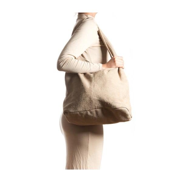 Geantă din piele, Roberta M 885 Fango, bej
