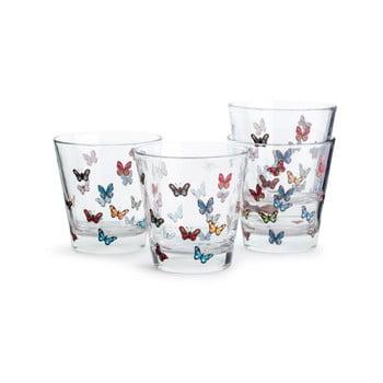 Set 4 pahare Sagaform Butterflies, 200 ml imagine