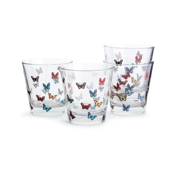 Set 4 pahare Sagaform Butterflies, 200 ml