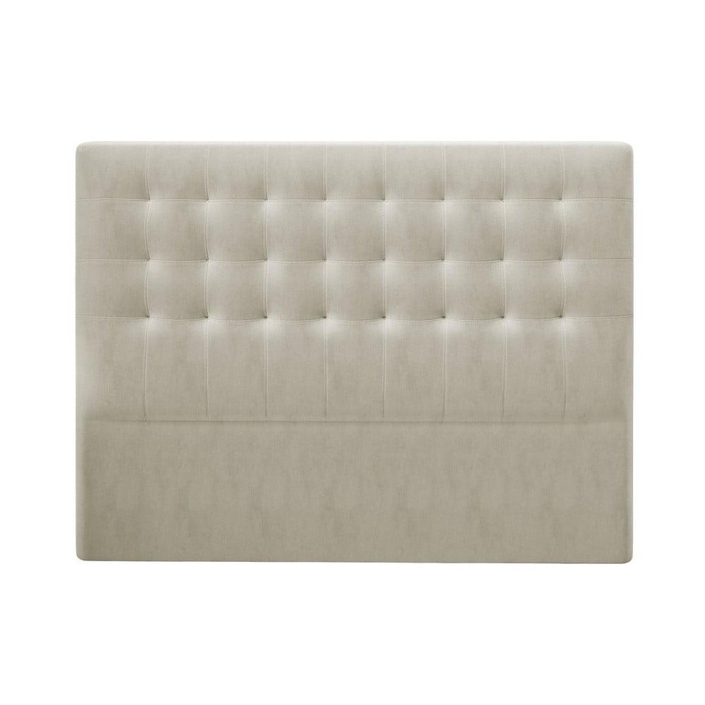 Produktové foto Béžové čelo postele se sametovým potahem Windsor & Co Sofas Athena, 200x120cm