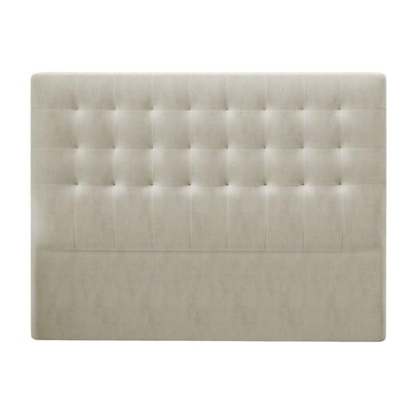 Beżowy zagłówek z aksamitnym obiciem Windsor & Co Sofas Athena, 200x120 cm