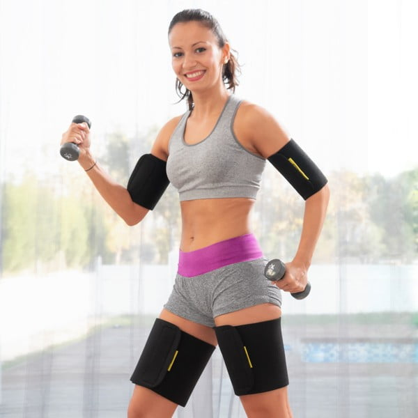 Zestaw 4 opasek sportowych z efektem sauny na ramiona i nogi InnovaGoods