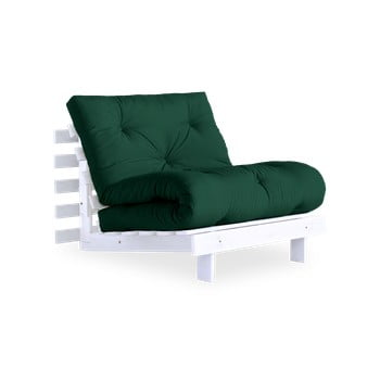 Fotoliu extensibil Karup Design Roots White/Forest Green