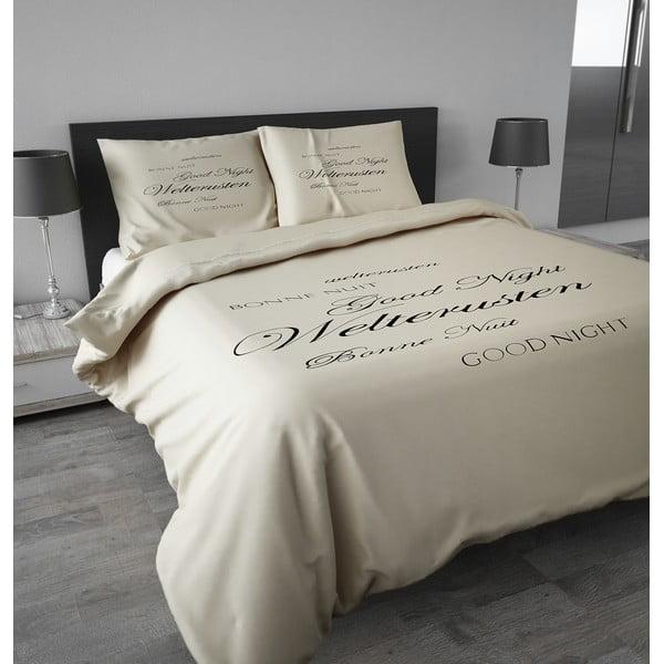Flanelové povlečení Good Night 200x200 cm, krémové