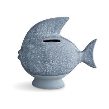 Pușculiță din ceramică Kähler Design Moneybank Fish, albastru deschis de la Kähler Design