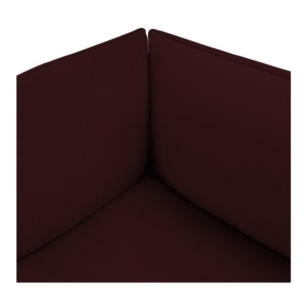 Vínově červená dvoumístná modulová pohovka Vivonita Velvet Cube