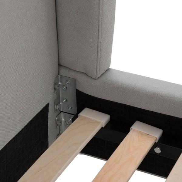 Světle šedá postel s černými nohami Vivonita Windsor,180x200cm
