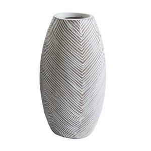 Světle hnědá váza Stardeco Stripes, 35 cm