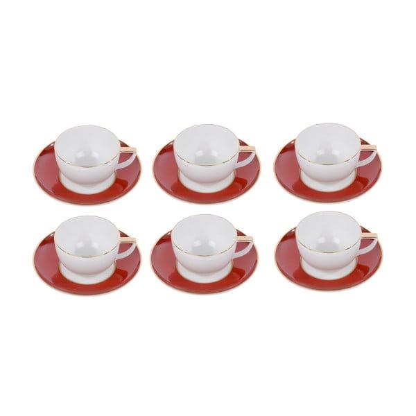 Sada 6 hrnků na kávu s podšálkem Ramponi Ruby