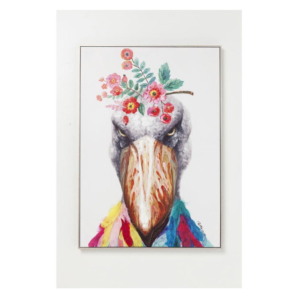 Nástěnný obraz Kare Design Flowers Bird, 102x72cm