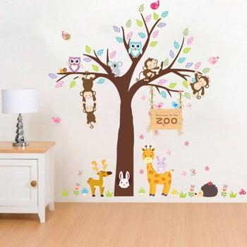 Autocolant de perete Ambiance Zoo Love, 105 x 105 cm de la Ambiance