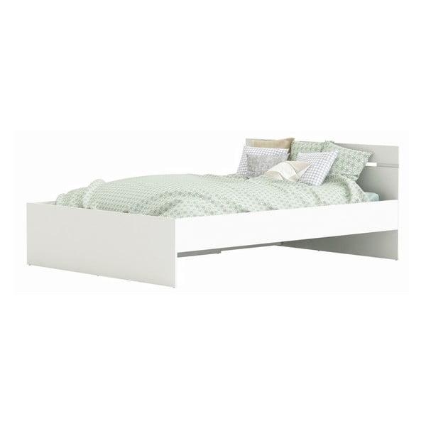 Bílá postel Tim, 140x190cm