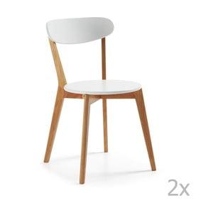 Set 2 scaune cu picioare de lemn La Forma Luana
