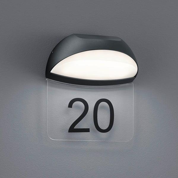 Venkovní nástěnné světlo Muga Antracit, 19 cm