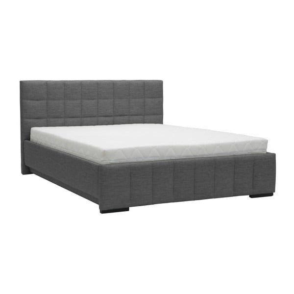 Pat dublu Mazzini Beds Dream, 160 x 200 cm, gri