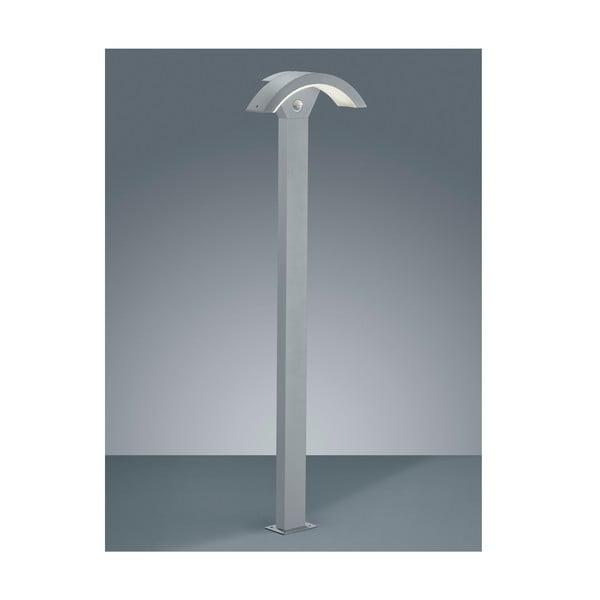 Světle šedé venkovní stojací svítidlo s pohybovým čidlem Trio Ohio, 100 cm