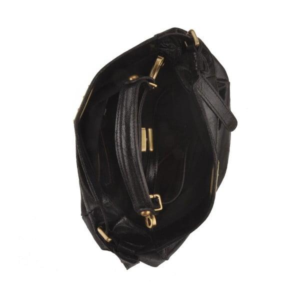 Černá kožená kabelka Florence Electra