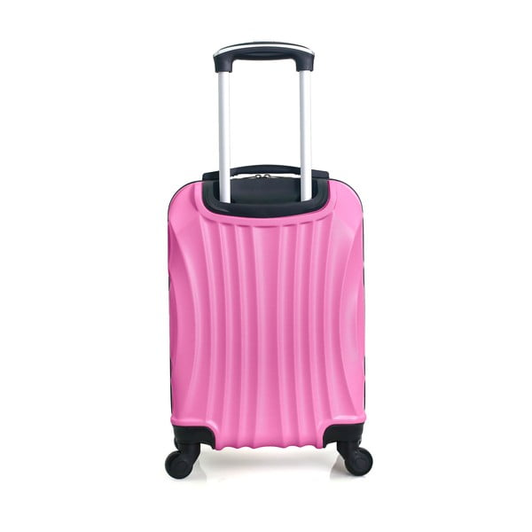Jasně růžový cestovní kufr na kolečkách Hero Moscou-e,30l