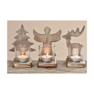 Sada 3 svícnů Silver Christmas