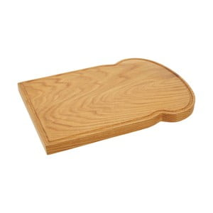 Prkénko z dubového dřeva ve tvaru toastu Premier Housewares, 25 x 34 cm