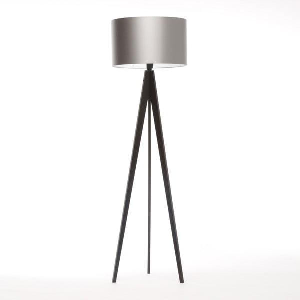 Stojací lampa Artista Black/Silver, 125x42 cm