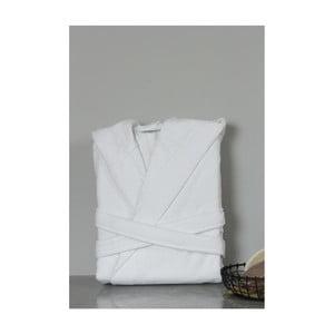 Bílý bavlněný unisex župan s kapucí My Home Plus Spa, velikost M/L