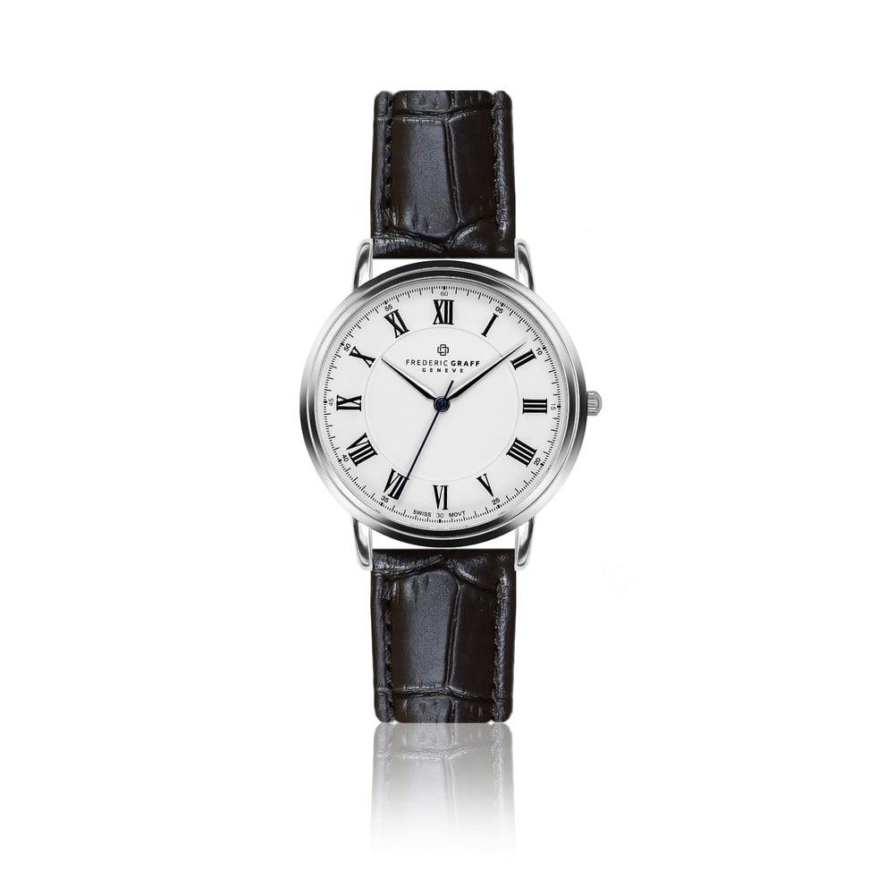 07bd483154 Pánské hodinky s páskem z pravé kůže v černé barvě Frederic Graff Weisshorn