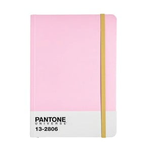 Zápisník A4 s barevnou gumičkou Pink Lady/Aspen Gold 13-2806