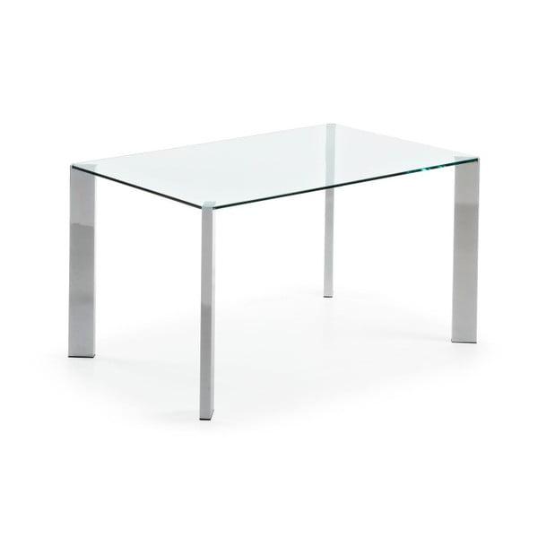 Jídelní stůl Corner, 140x90cm, chromované nohy