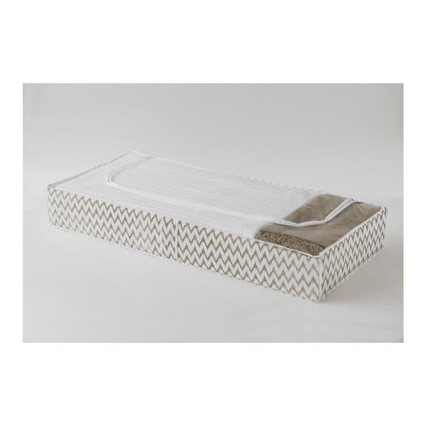 Textilný úložný box pod posteľ Compactor Clear