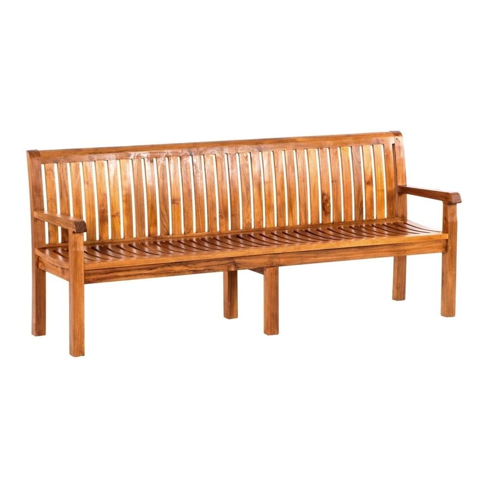 Zahradní lavice z teakového dřeva Massive Home Paolo, délka210cm