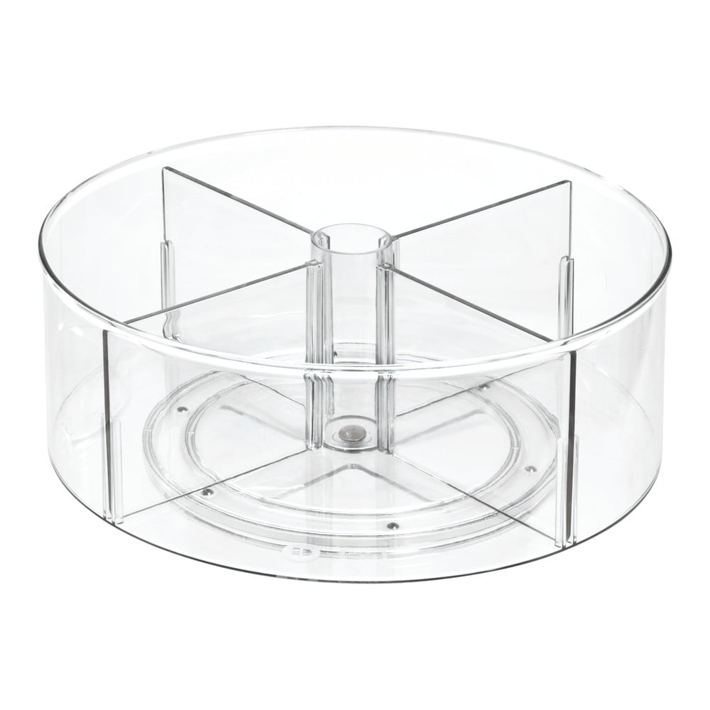 Kulatý transparentní úložný box iDesign The Home Edit, ⌀ 31 cm