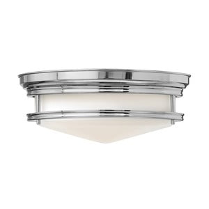 Stropní svítidlo ve stříbrné barvě Elstead Lighting Hadley Tres Chrome