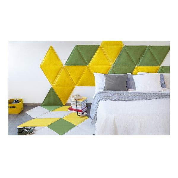 Modulový nástěnný koberec Edera, zelený