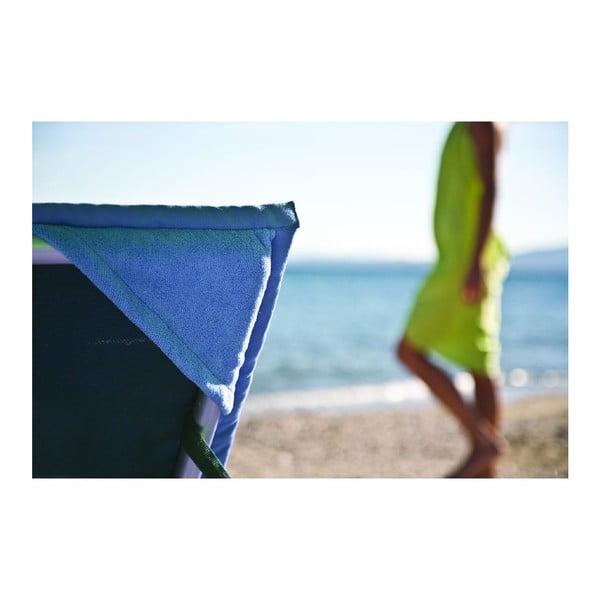 Modrá plážová osuška s rohovými kapsami Terra Nation One Moe,90x180cm