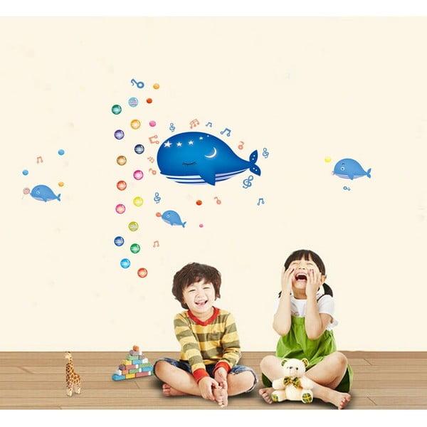 Samolepka s metrem Fanastick Whale and Bubbles