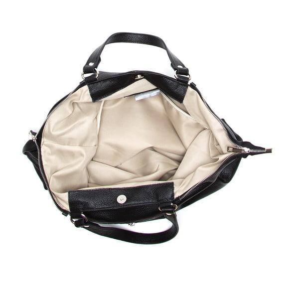 Kožená kabelka Fiora, černá
