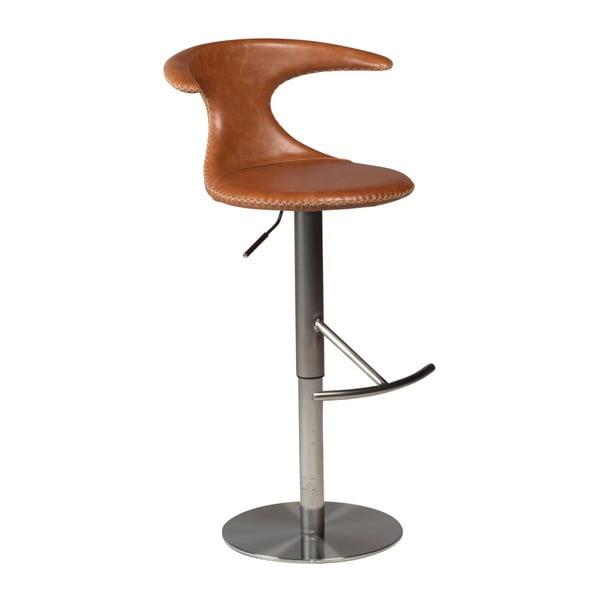 Flair állítható barna bárszék, bőr ülőrésszel - DAN-FORM Denmark