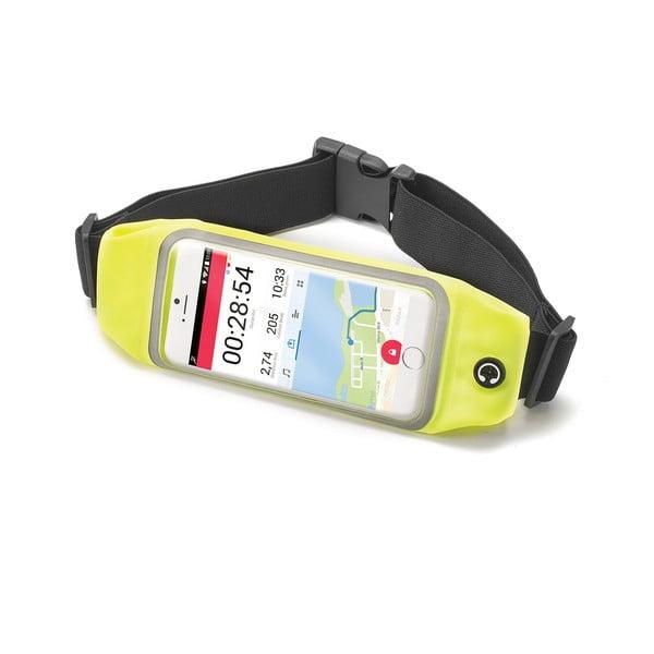 """Žluté sportovní neoprénové pouzdro Celly RunBelt View, pro telefony do 4.7"""""""