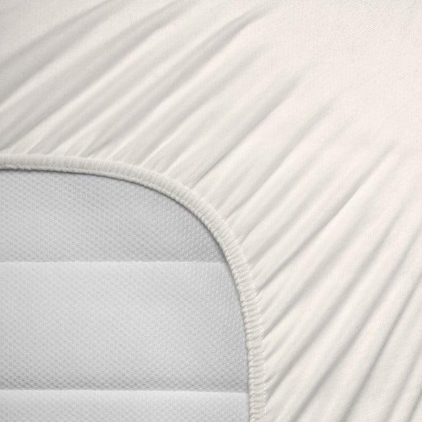 Krémové elastické prostěradlo Homecare,190-200x200-220cm