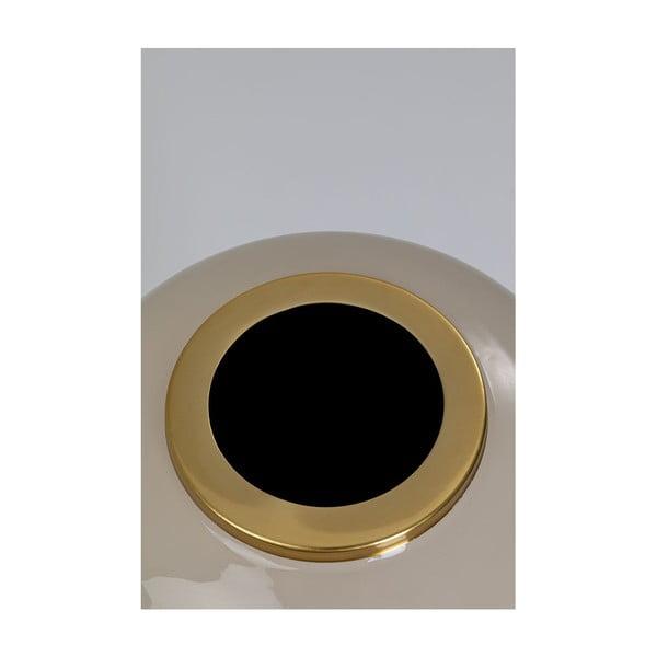 Vază cu detalii aurii Kare Design Charme, gri deschis