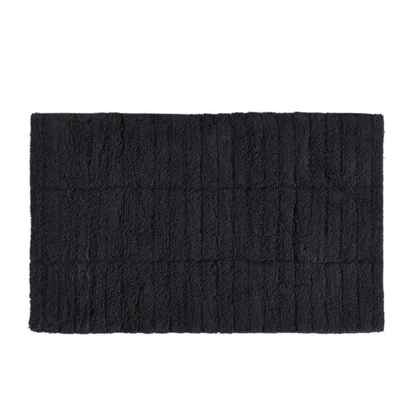 Tiles fekete pamut fürdőszobai kilépő, 50 x 80 cm - Zone