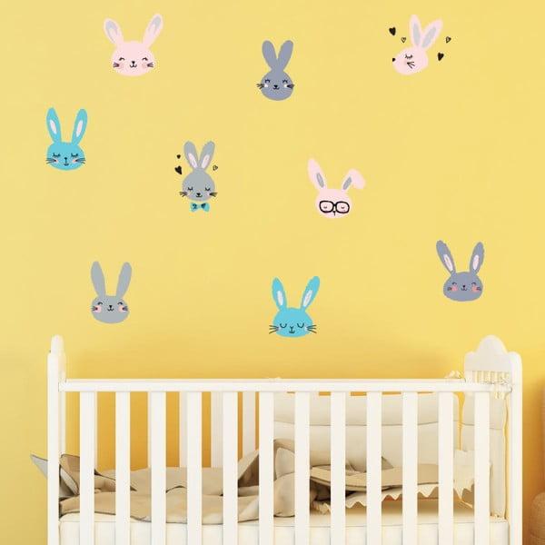 Adorable Bunnies gyerek falmatrica szett - Ambiance