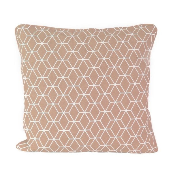 Polštář Present Time Hexagon Dusty Pink, 45x45 cm