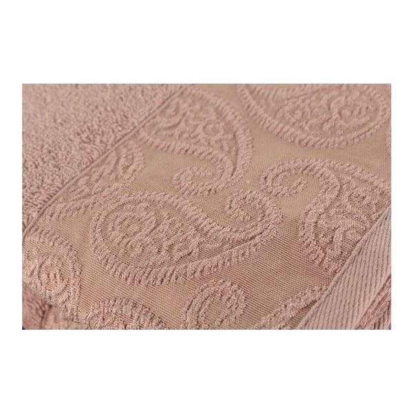 Sada 2 pudrově růžových ručníků ze 100% bavlny Sal Dusty Rose, 50x90cm