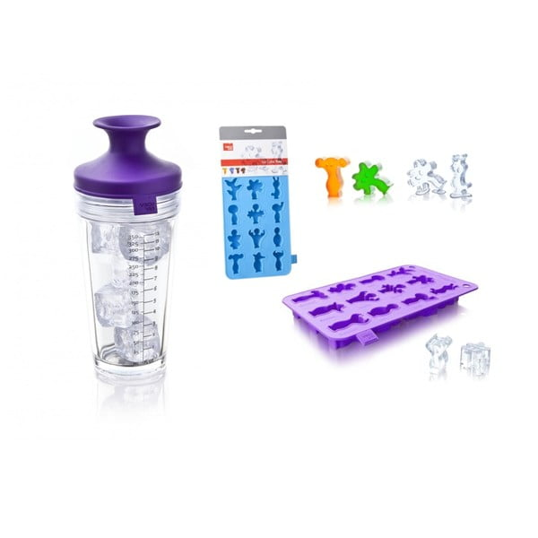 Set shaker + tvořítko na led, fialový