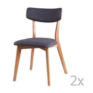 Set 2 scaune sømcasa Anais, gri închis